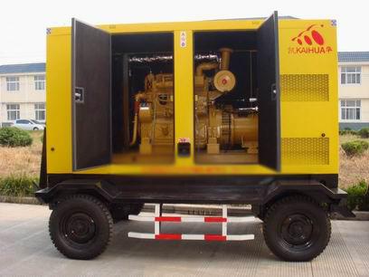 常州应急发电机-300kw移动静音发电机组
